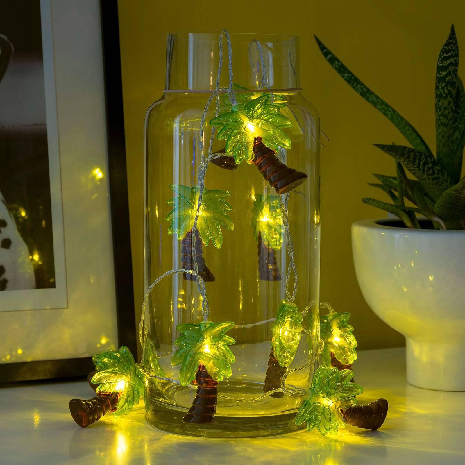 LED-valoketju Palmut, paristokäyttöinen