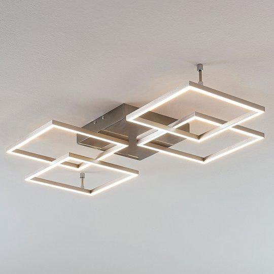 Himmennettävä LED-kattolamppu Quadra, 4-lampp.