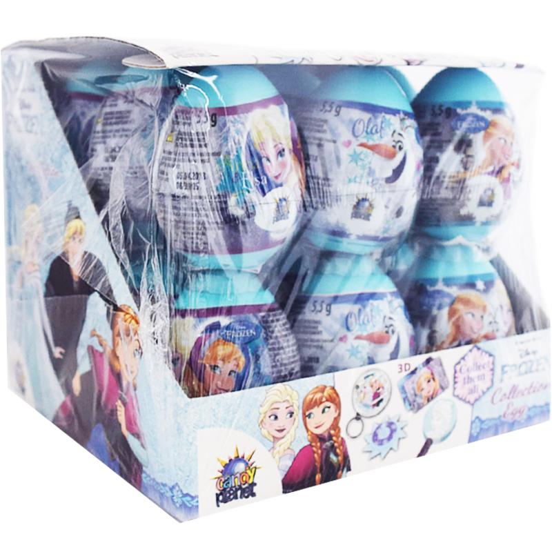 """Hel Låda Överraskningsägg """"Frozen"""" 18 x 5,5g - 48% rabatt"""