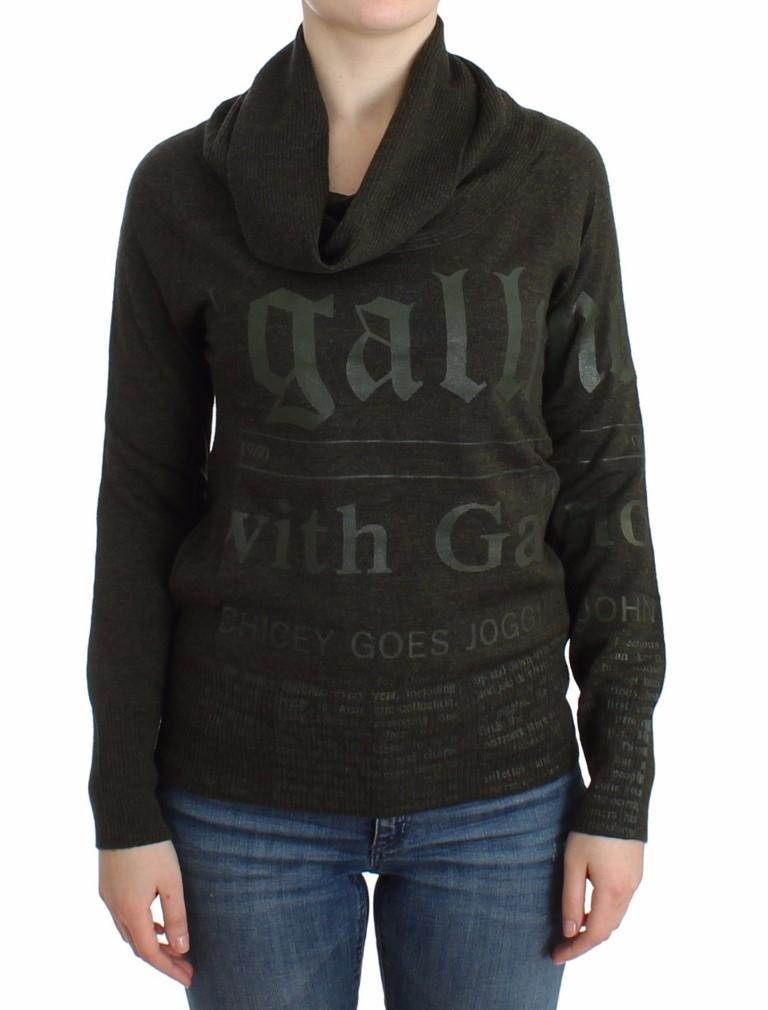 John Galliano Women's Wool Turtleneck Sweater Green SIG12099 - XXS