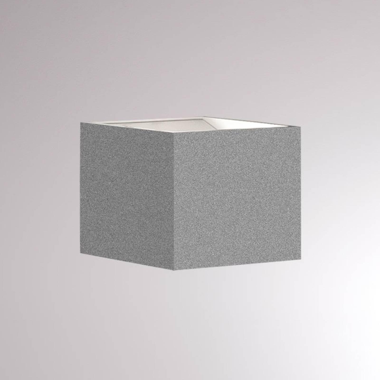 LOUM Foro -LED-seinävalaisin 2 700 K, 7 cm, hopea