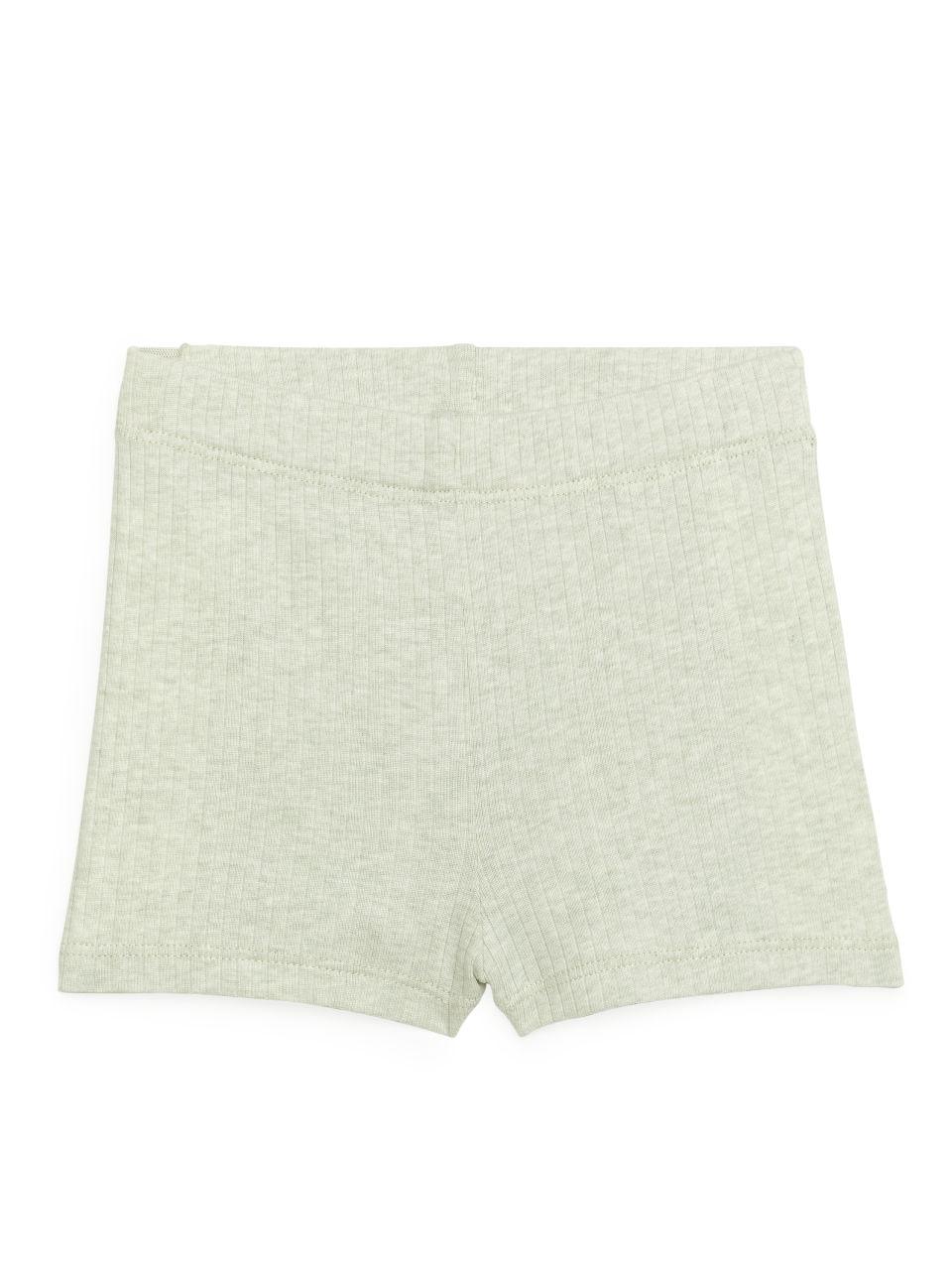 Natural Dye Rib Shorts - Green