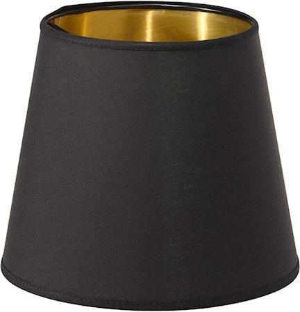 Queen Lampeskjerm Svart/Gull 12 cm