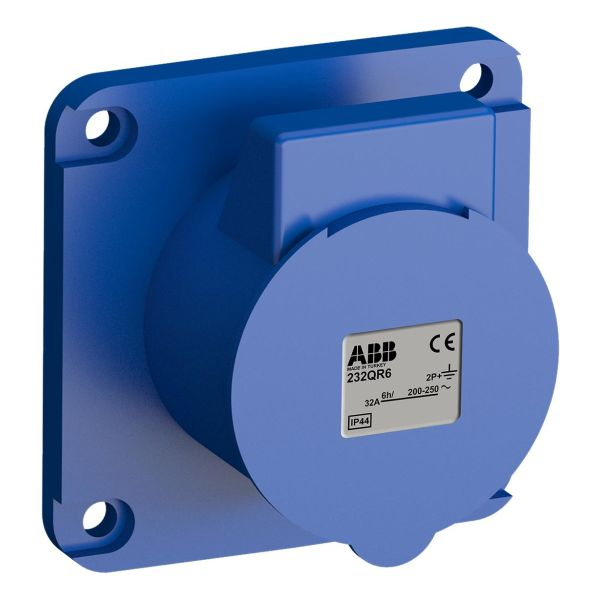 ABB 2CMA102348R1000 Paneluttak hurtigtilkoblet, vibrasjonsbestandig Rett, 3-polet, 32 A, 60x60 mm