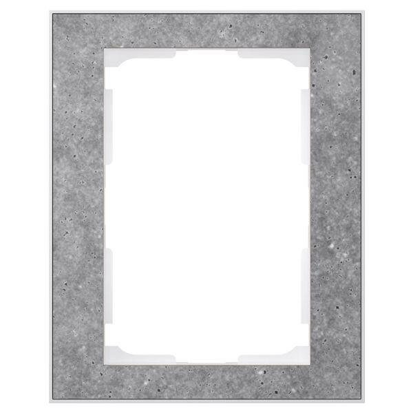 Elko EKO05998 Yhdistelmäkehys betoni/valkoinen, 1½ lokeroa 1½-lokeroa
