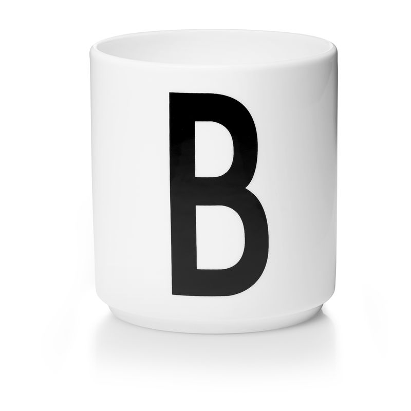 Design Letters - Personal Porcelain Cup B - White (10201000B)