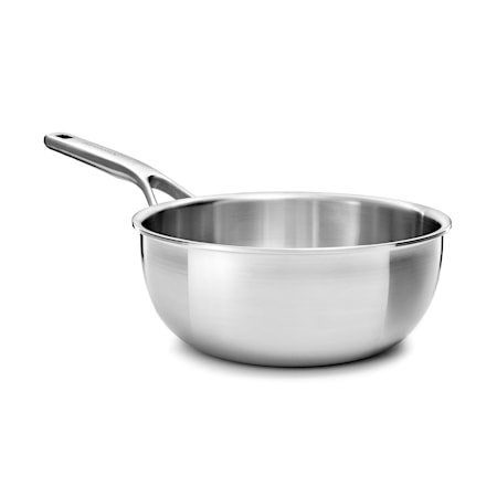 Multi-Ply Stainless Steel Sauteuse 20 cm / 2,36L Uncoated