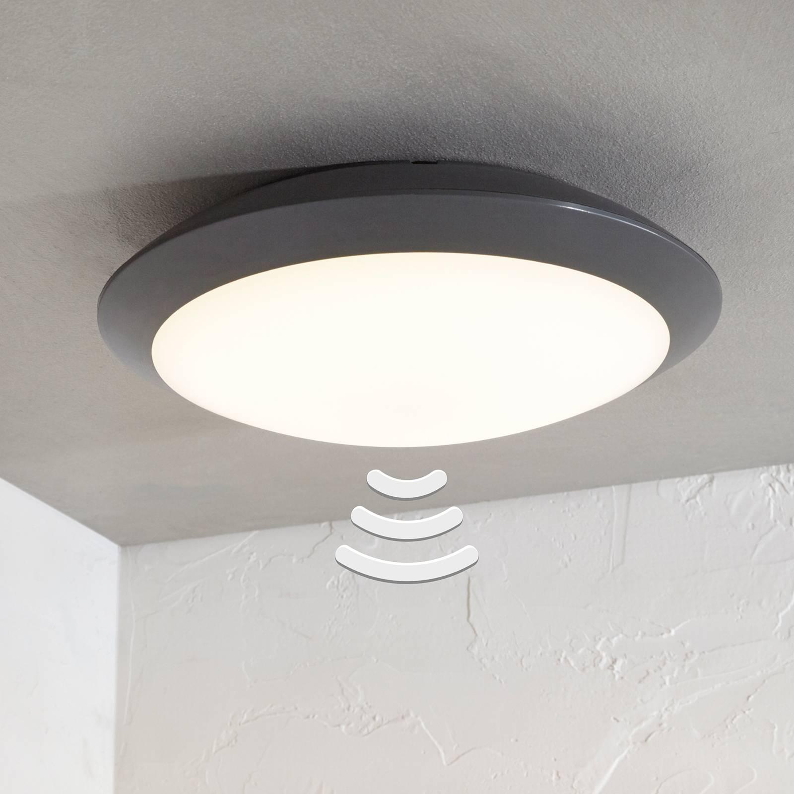 LED-ulkokattovalaisin Naira, harmaa, anturi