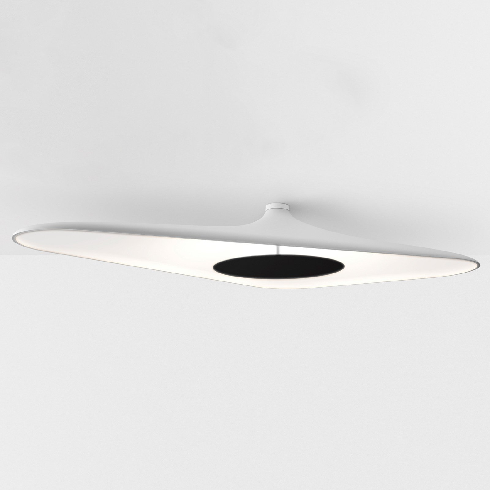 Luceplan Soleil Noir - LED-taklampe, hvit