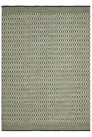 Mahi Matta Ull Off White/Grön 170x240 cm
