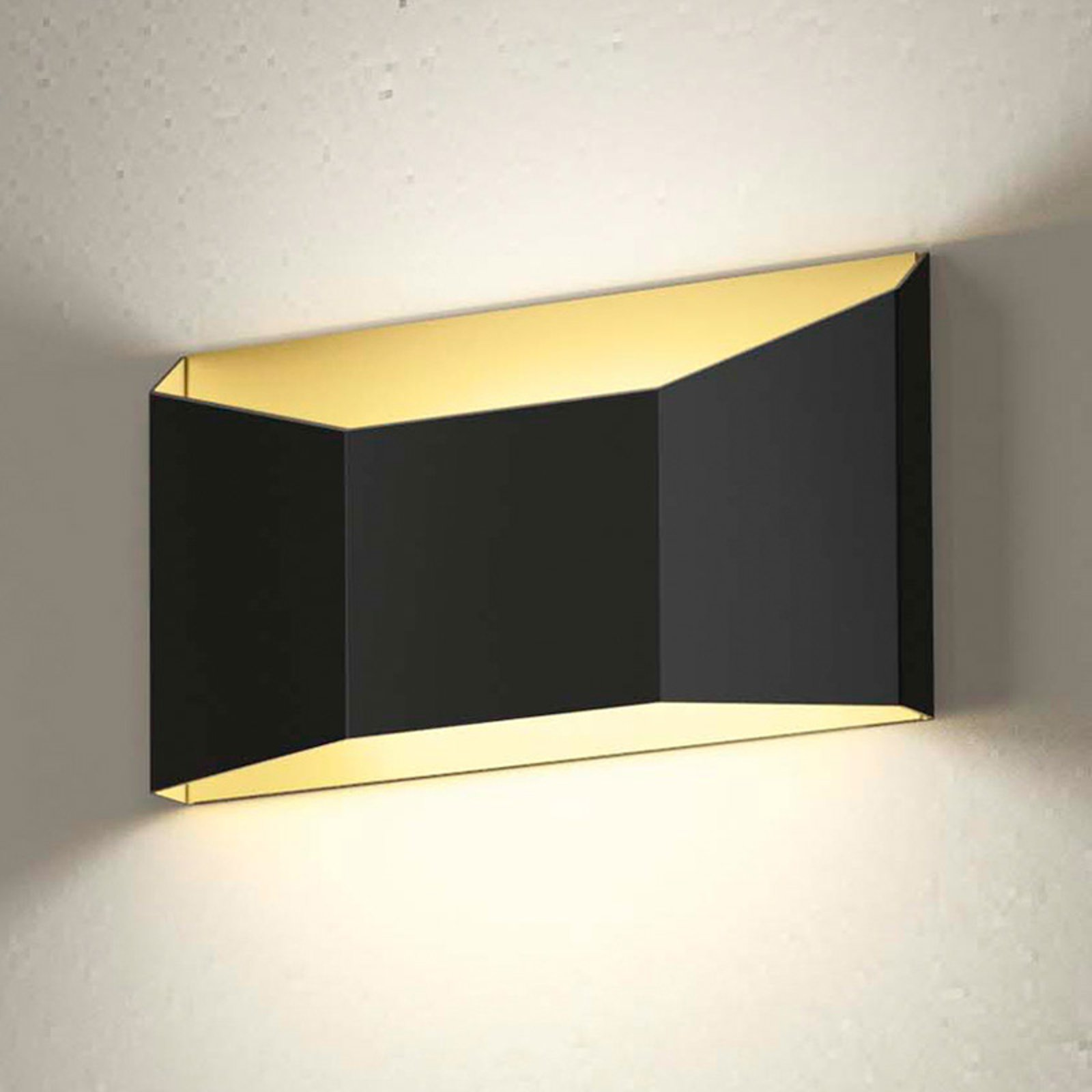 Esa tofarget LED-vegglampe i flat form