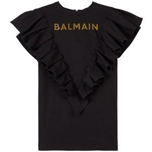 Balmain Logo T-shirt-klänning Svart 6 år