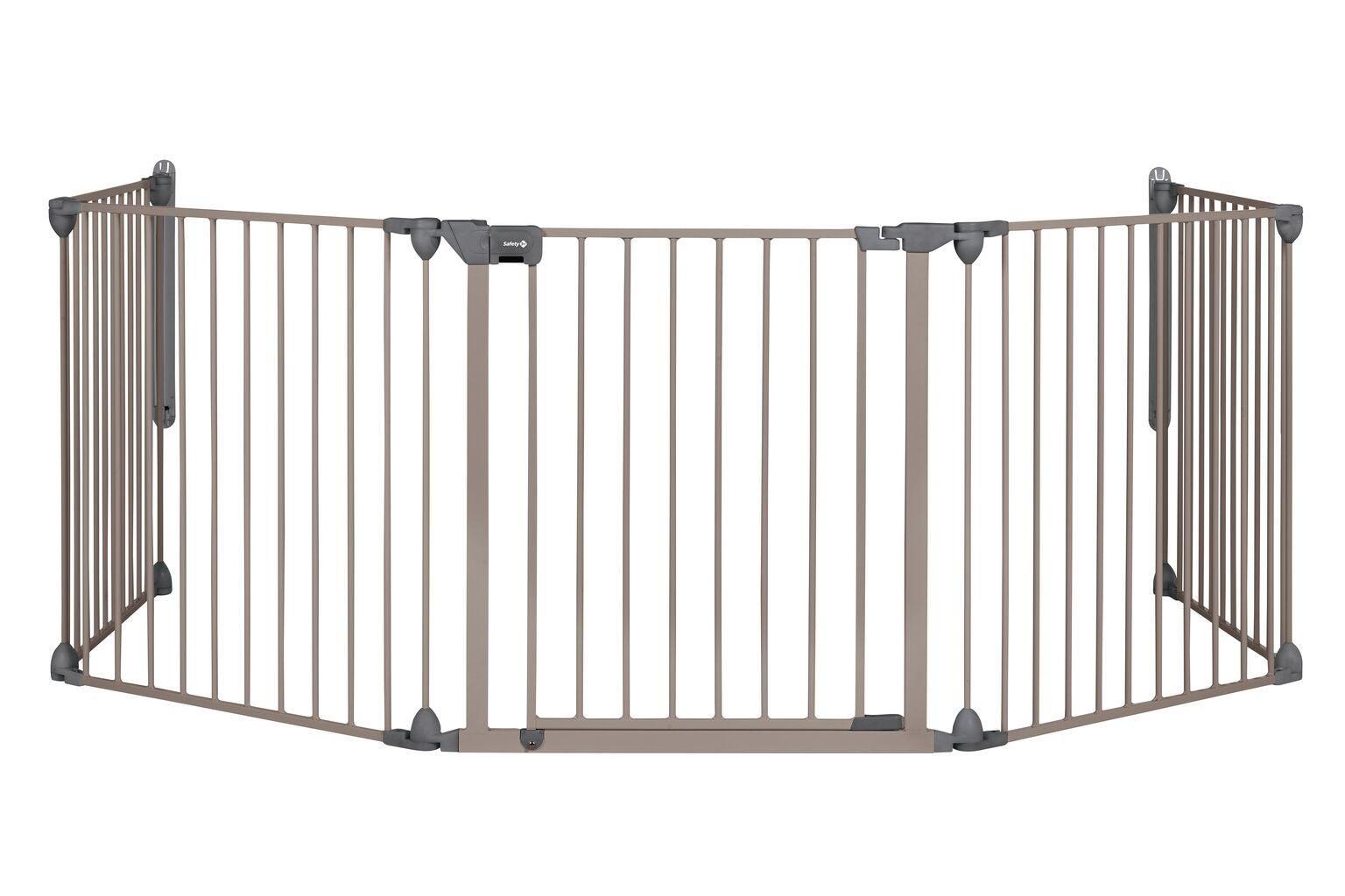Safety 1st Modular Säkerthetsgrind med 5 paneler, Light Grey