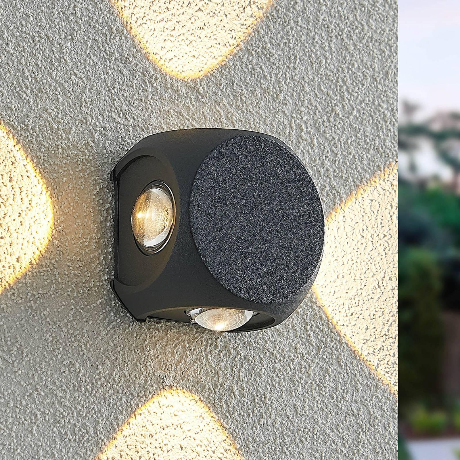 Lindby Esmani -LED-seinävalo 4-lamppuinen harmaa