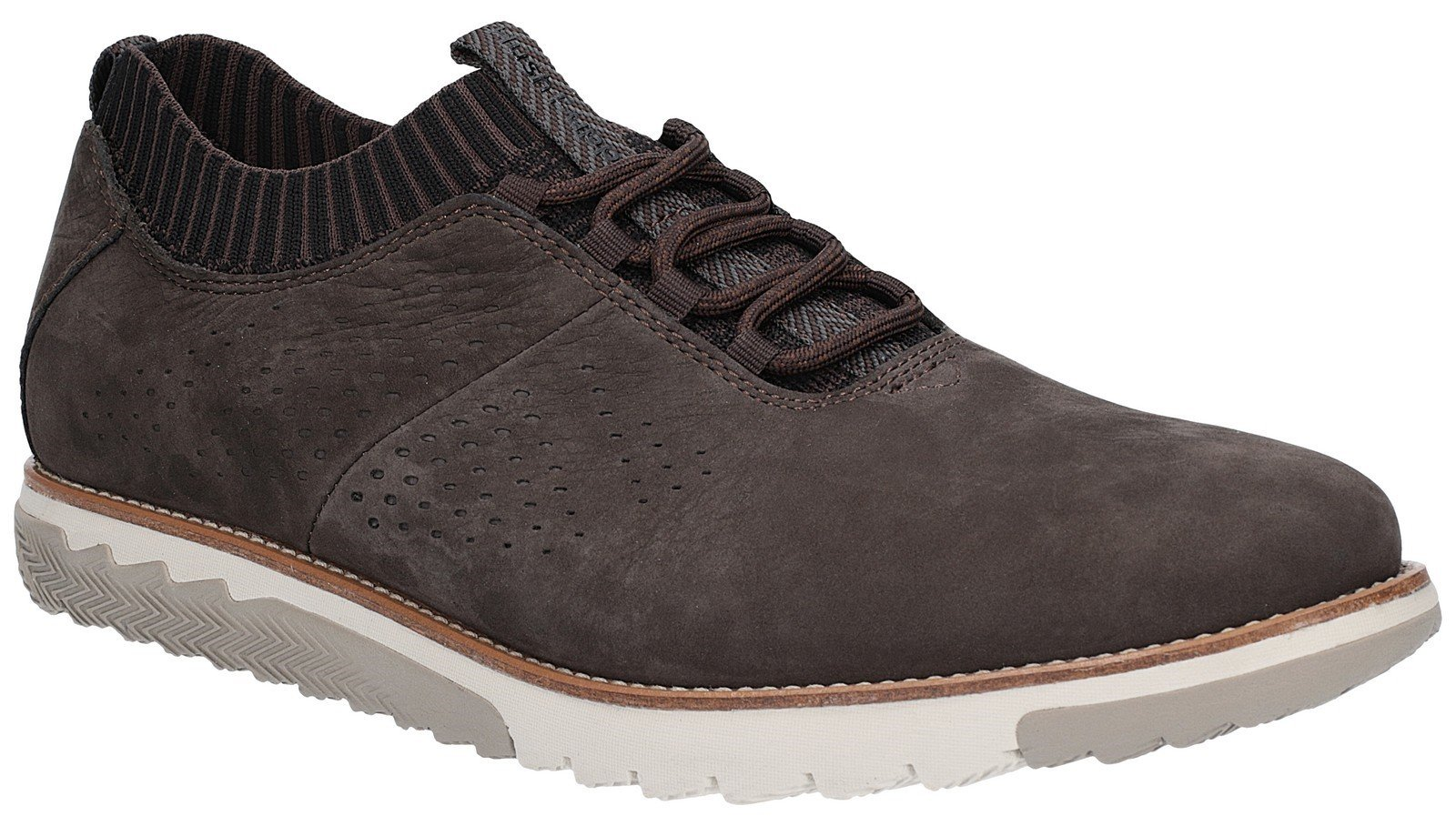 Hush Puppies Men's Expert Knit Lace Up Trainer Various Colours 27360 - Off Black 7