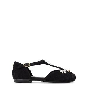 Dolce & Gabbana Gemstone Ballerinaskor Svarta 27 (UK 9)