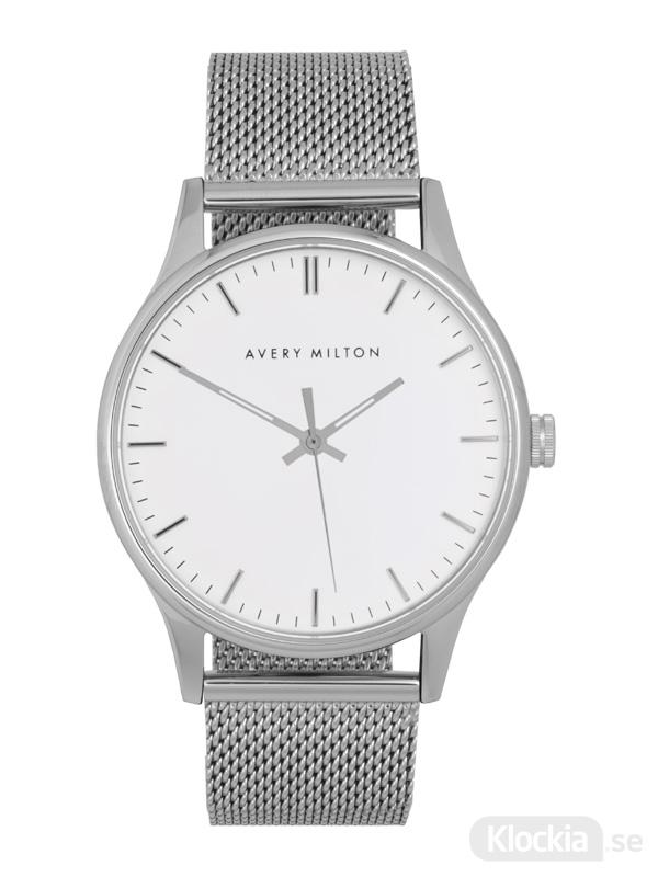 Avery Milton Como Steel Silver/White 119340820 Unisexklocka