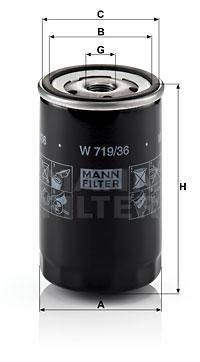 Öljynsuodatin MANN-FILTER W 719/36