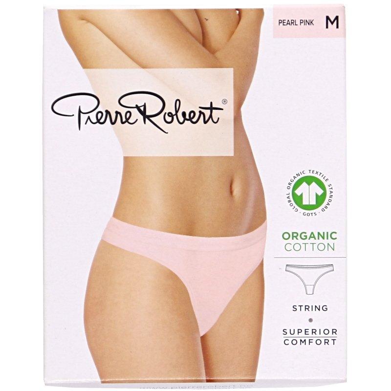 Luomupuuvillaiset stringit pearl pink M - 78% alennus