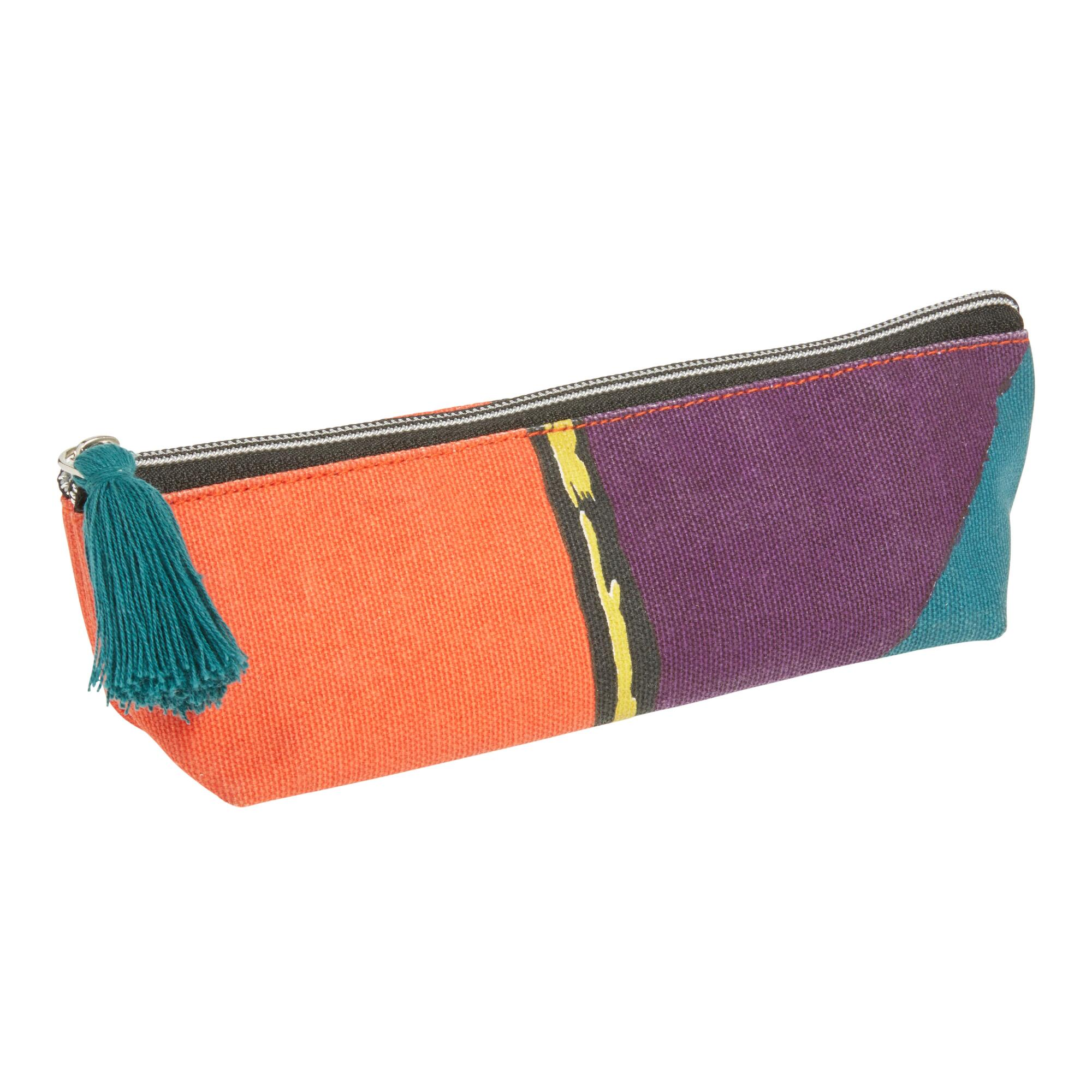 ArtLifting Beautiful Mother Canvas Pencil Case: Multi - Cotton by World Market