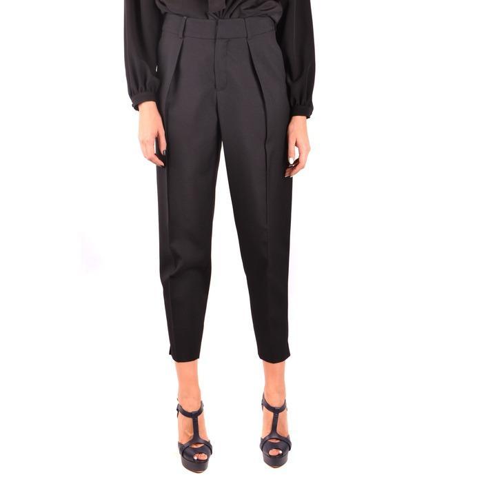Saint Laurent Women's Trouser Black 187137 - black 36
