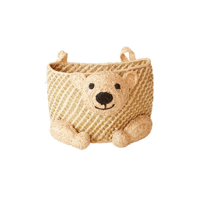 Rice - Hanging Seagrass Storage Basket - Bear Shape