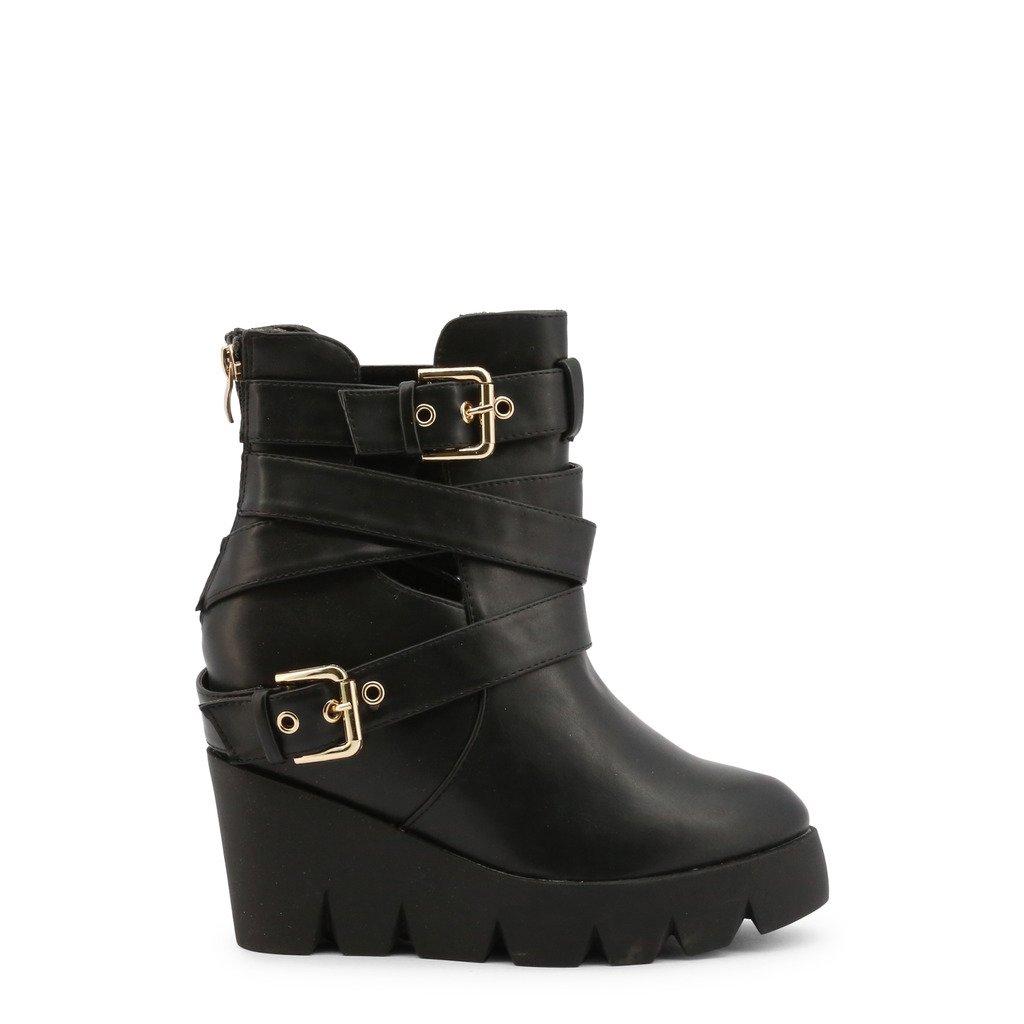 Roccobarocco Women's Ankle Boot Black RBSC0T002 - black EU 38