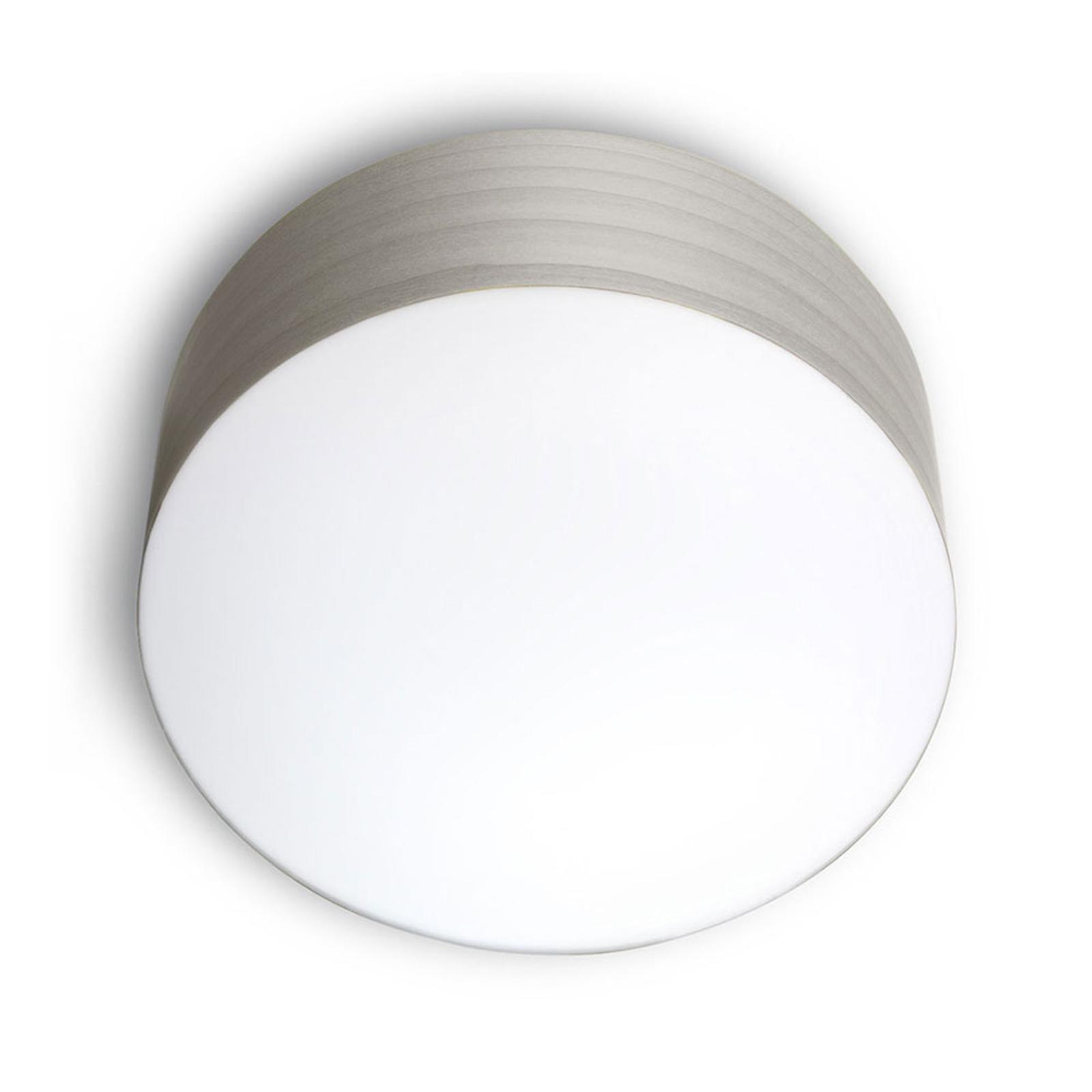 LZF Gea -kattovalaisin 0–10 V dim, Ø 20 cm, harmaa