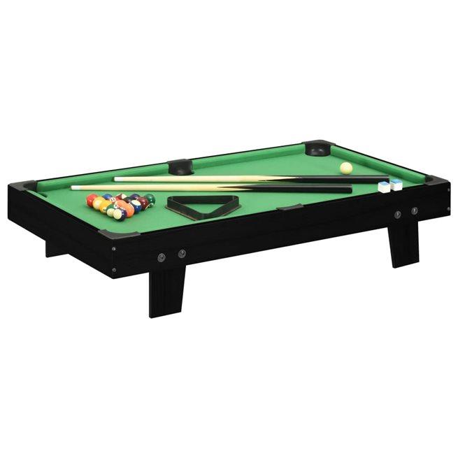 vidaXL Biljardbord mini 3 feet 92x52x19 cm svart och grön