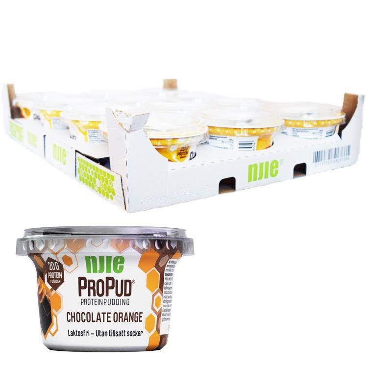 Laatikollinen proteiinivanukasta Suklaa & Appelsiini 12 x 200g - 28% alennus