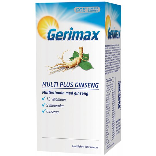 "Kosttillskott ""Multi Plus Ginseng"" 200-pack - 47% rabatt"