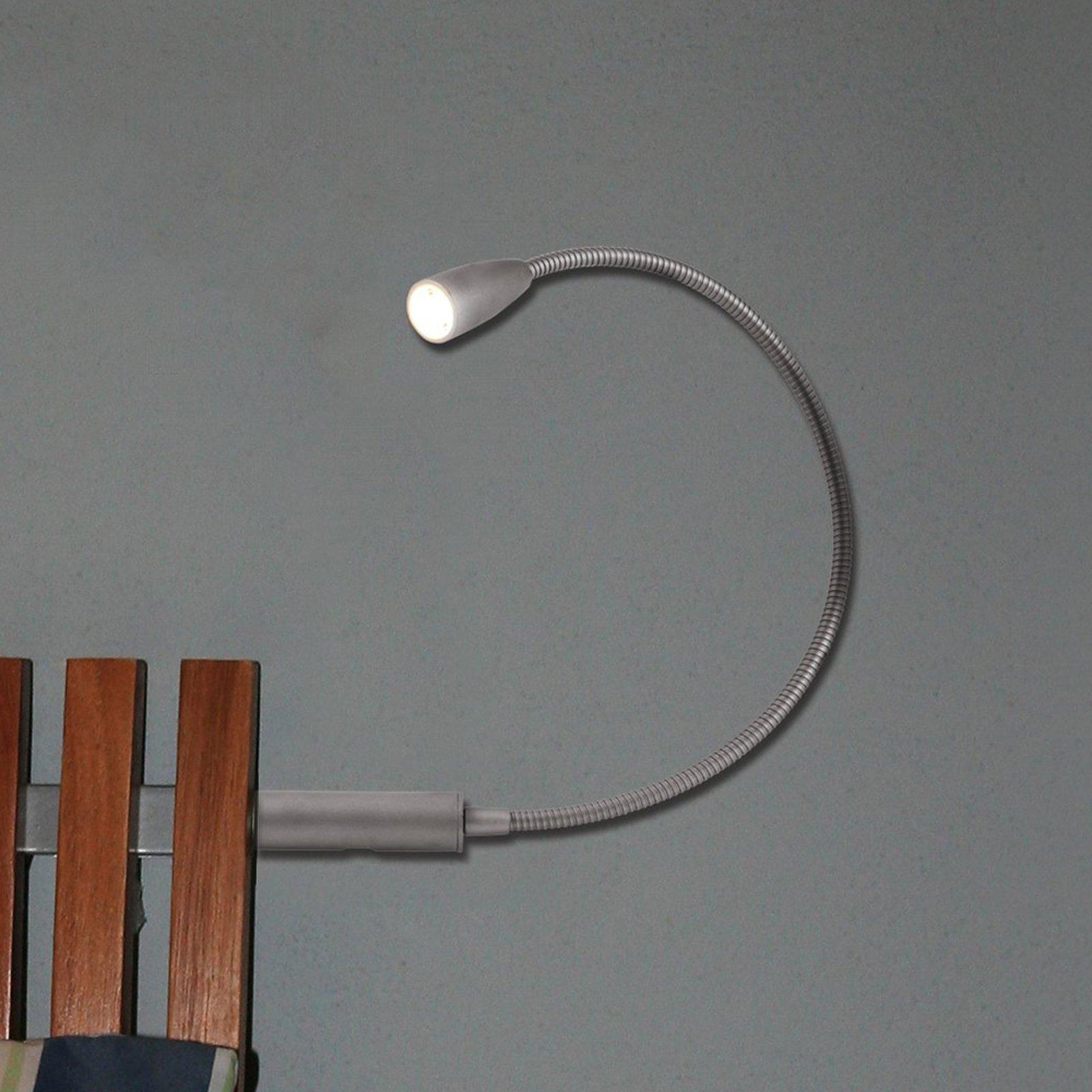 LED-leselampe Berta med fleksarm