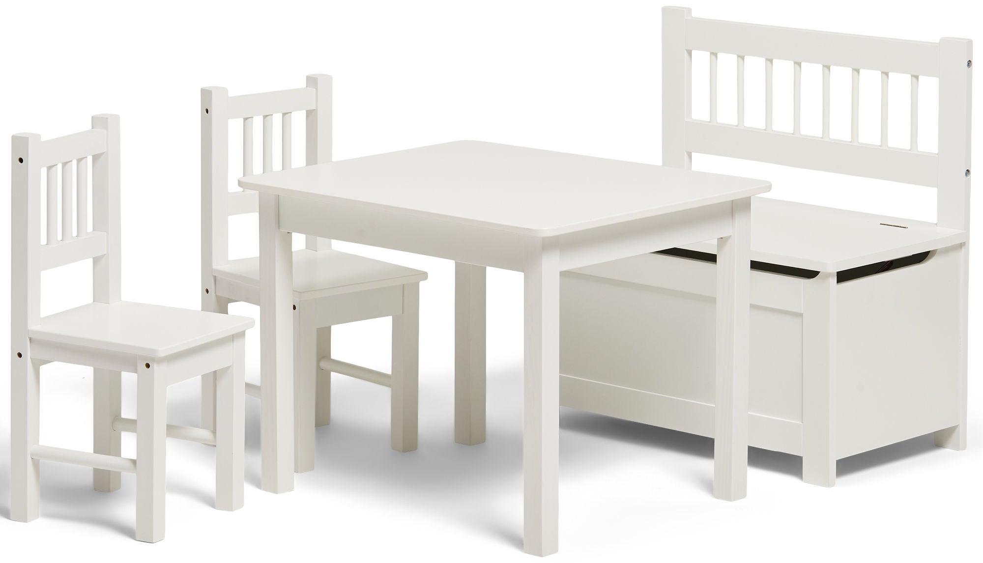 Alice & Fox Pöytä, Tuolit ja Penkki, White
