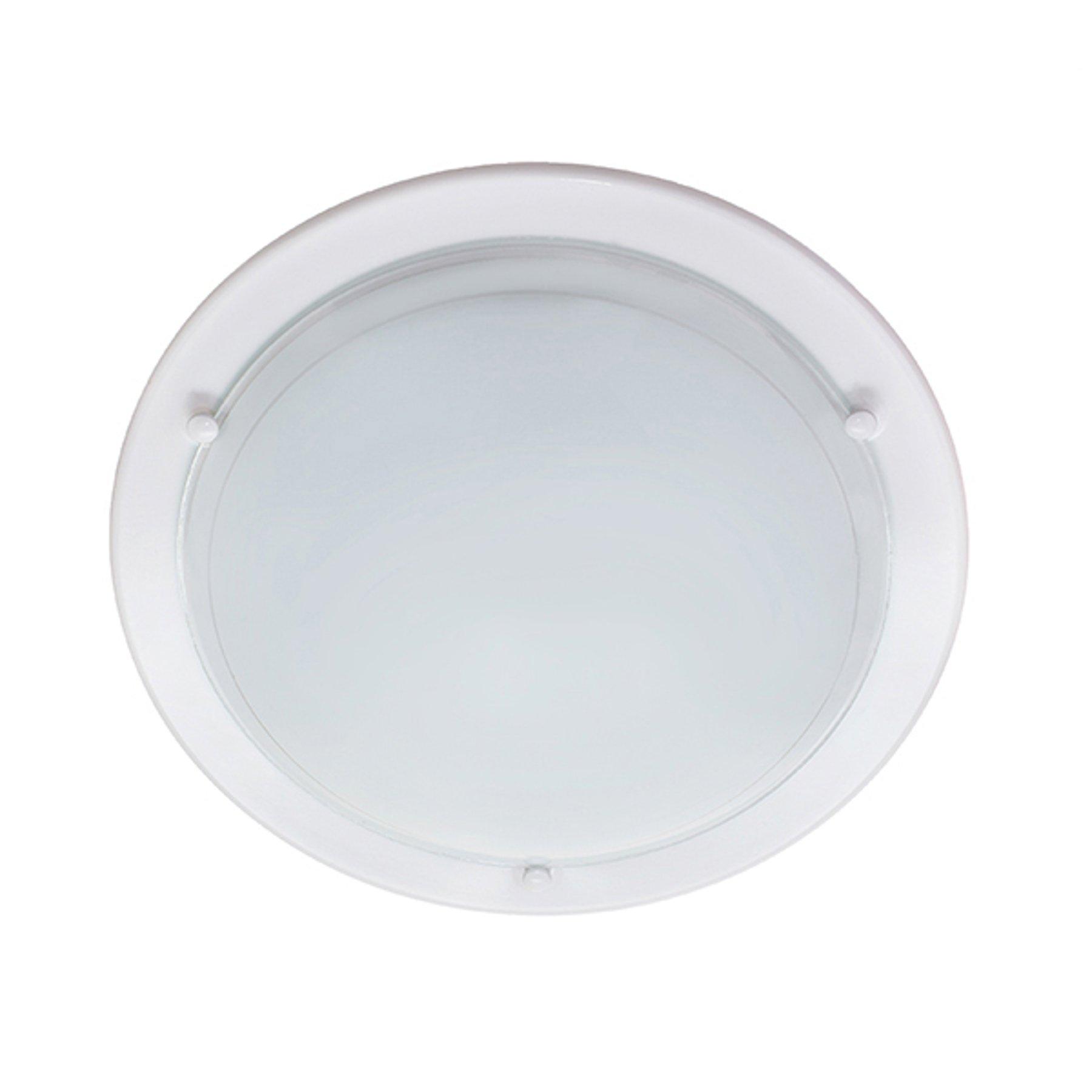 Taklampe P1B, hvit