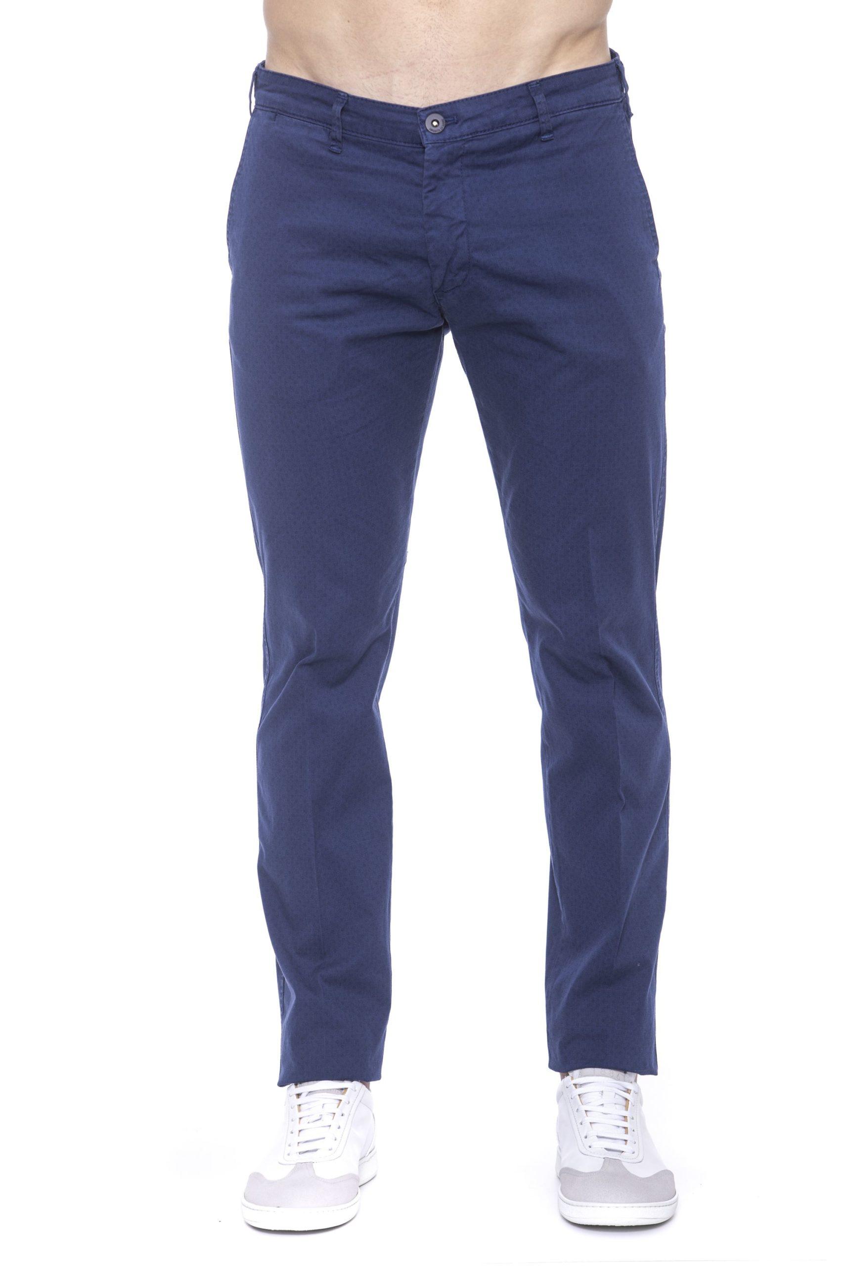 Armata Di Mare Men's Micro-pattern Jeans Blue AR1394132 - IT48 | M