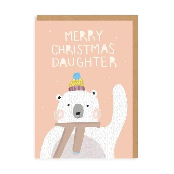 Daughter Polar Bear Christmas Card