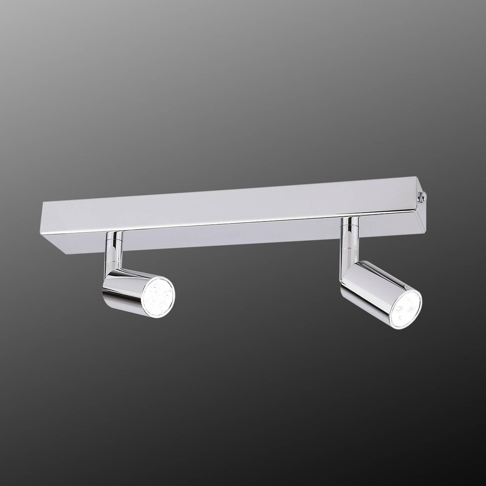 Moderne taklampe med LED-list og to lys