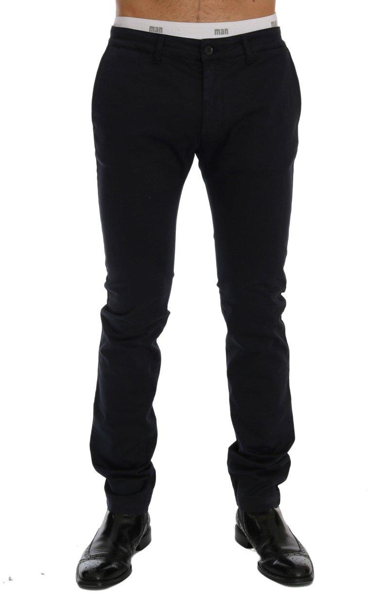 GF Ferre Men's Cotton Stretch Trouser Blue SIG60462 - IT54 | XXL