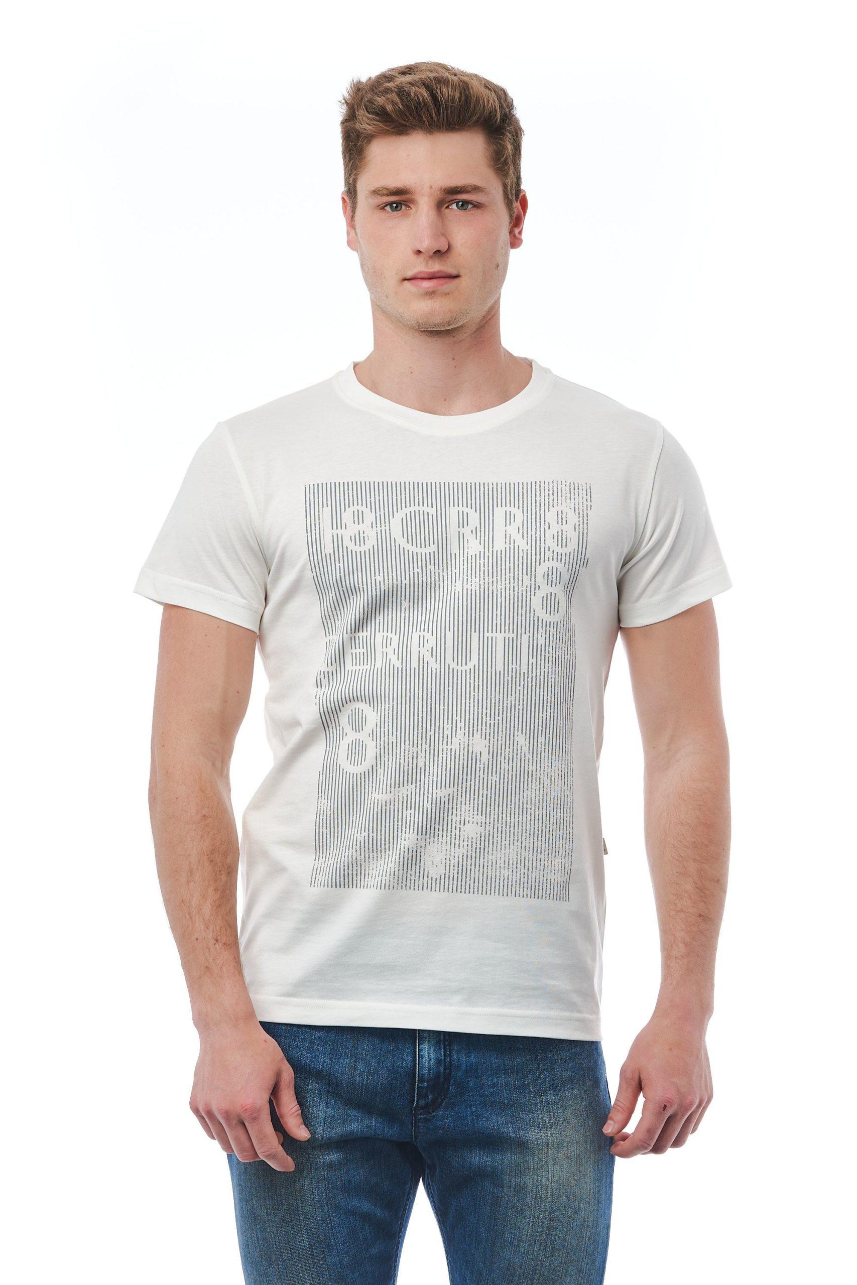Cerruti 1881 Men's Bianco T-Shirt White CE1409791 - M