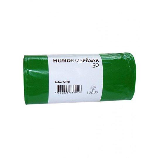 Lupus Bajspåse 50/Rulle (Grön)