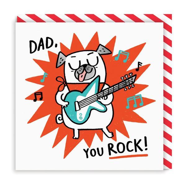 Dad You Rock Guitar Greeting Card