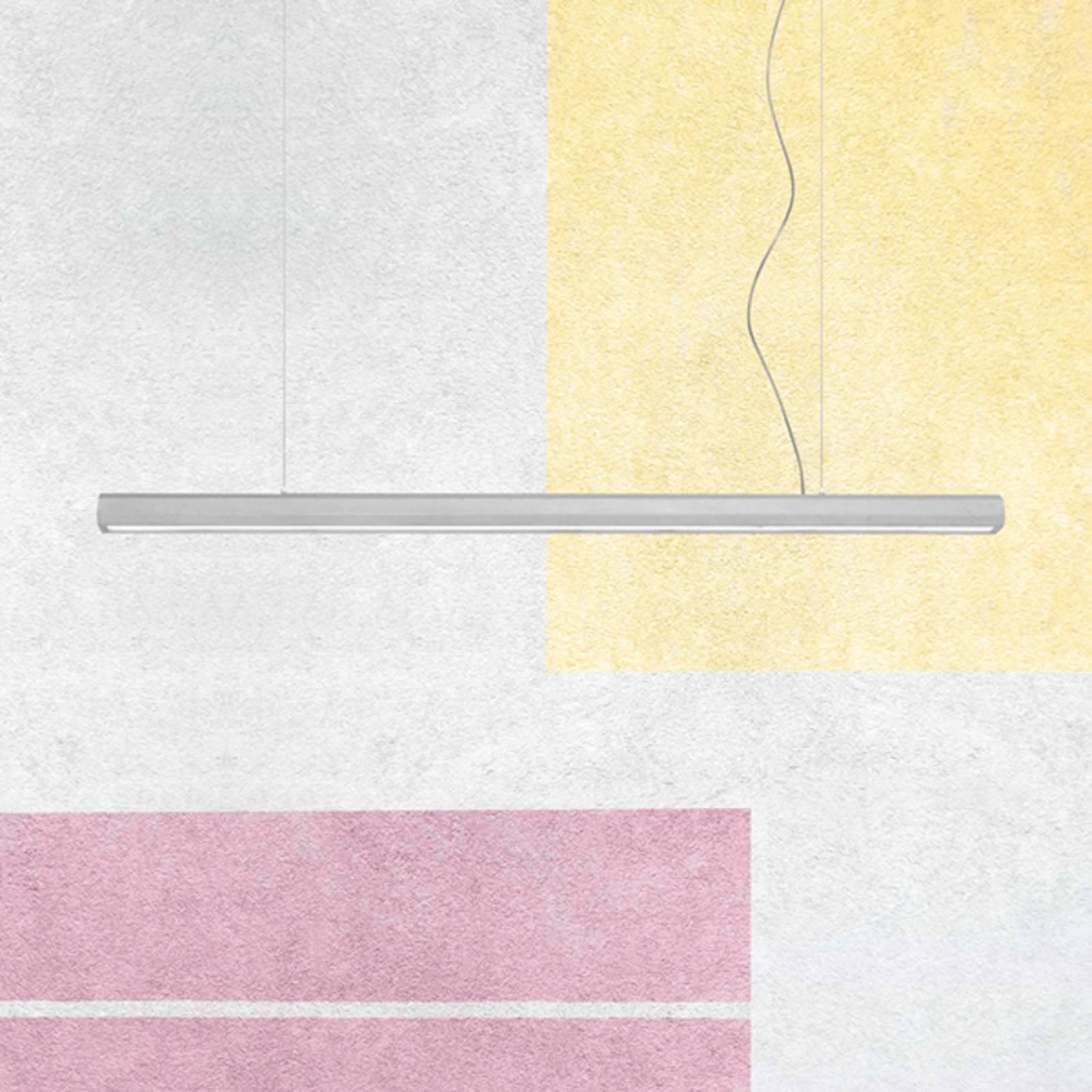 LED-riippuvalo Materica Stick L, sementti, 100 cm