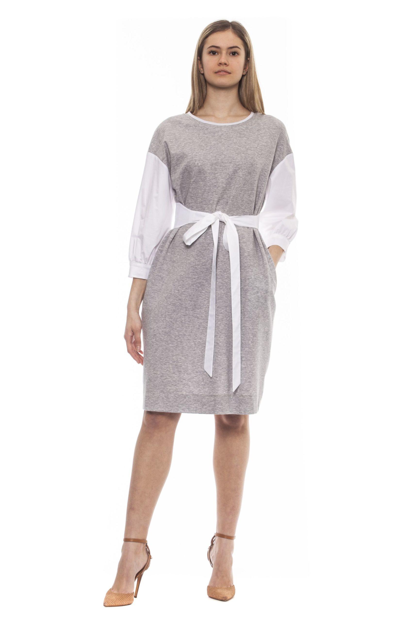 Peserico Women's Grigio Dress Gray PE1381744 - IT42 | S