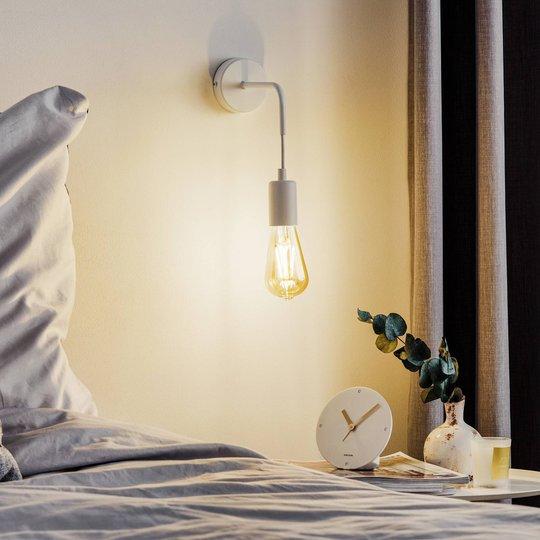 Vegglampe Multipo K1 i stål, lakkert hvit