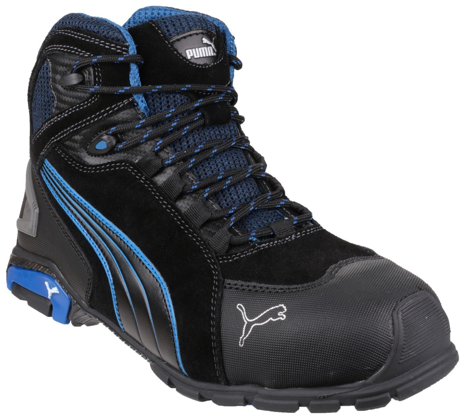 Puma Safety Unisex Rio Mid Lace-up Safety Boot Black 23091 - Black 6