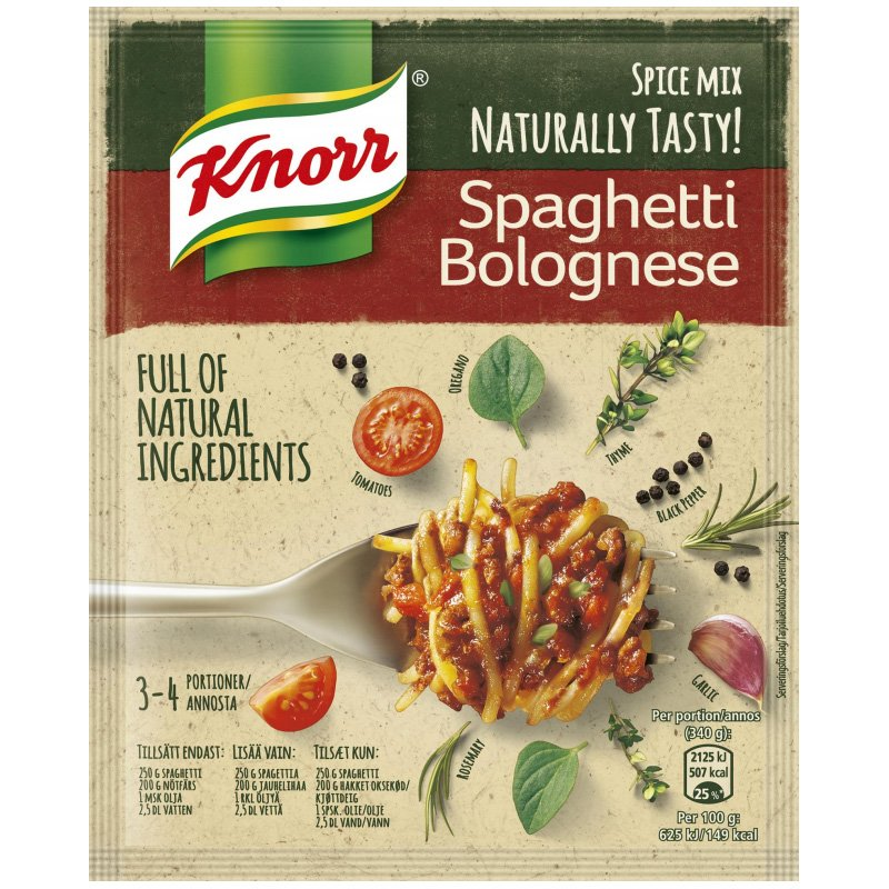 "Maustesekoitus ""Spaghetti Bolognese"" 43g - 34% alennus"