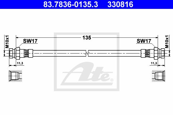 Jarruletku ATE 83.7836-0135.3