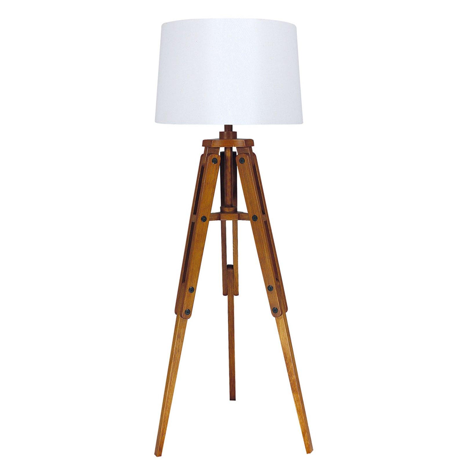 Tre-gulvlampe Marvin i stativform, høyde 122 cm
