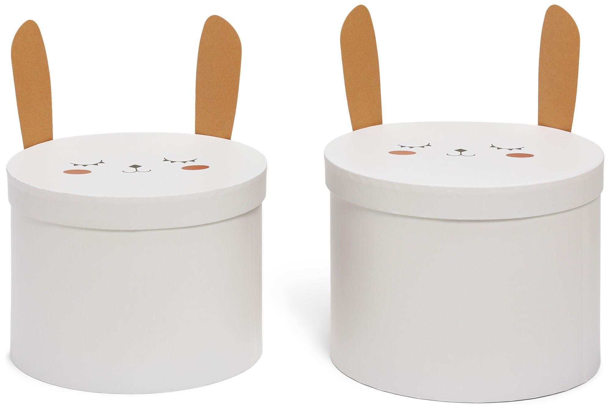 Alice & Fox Säilytyslaatikot 2-Pack Pupu, Valkoinen