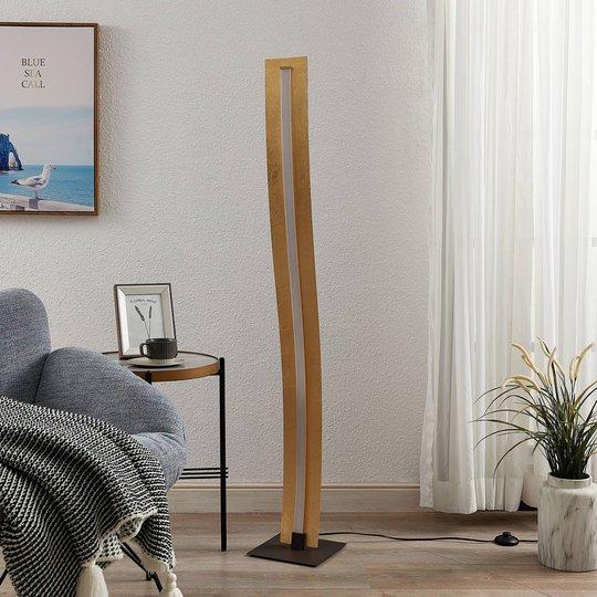 Lindby Larisa LED-gulvlampe i bølget design